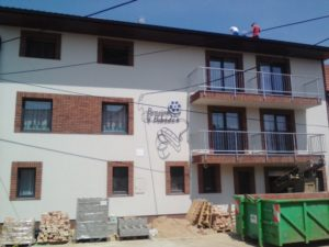 Kompletní elektro s hromosvodem a kabeláž slaboproudu – Penzion (Velké Pavlovice)