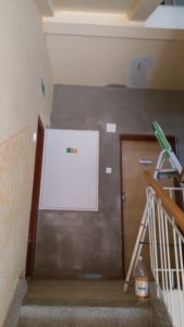 Výměna elektroinstalace - Bytový dům Hustopeče